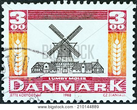 DENMARK - CIRCA 1988: A stamp printed in Denmark from the