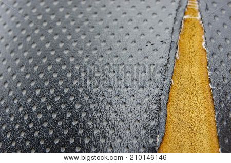 Old leather upholstery Leather upholstery lack background