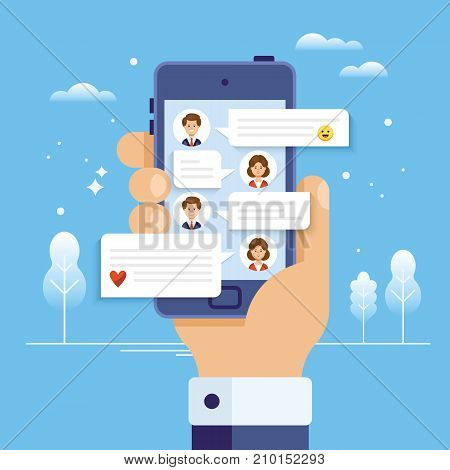 Messaging On Mobile Smart Phone Concept