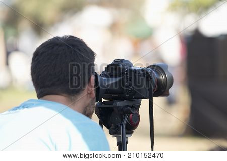 Camera Operator Filming At Ecoaltea.