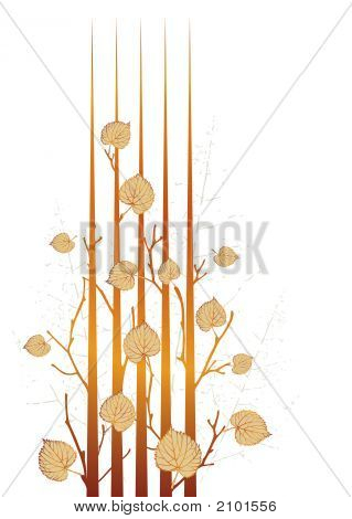 Autumn Grunge Leaves
