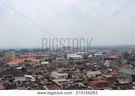 Jogja Landscape in Yogyakarta city View, Indonesis