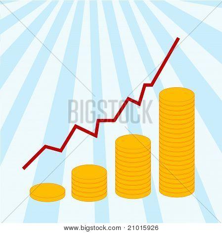 Diagram success with money