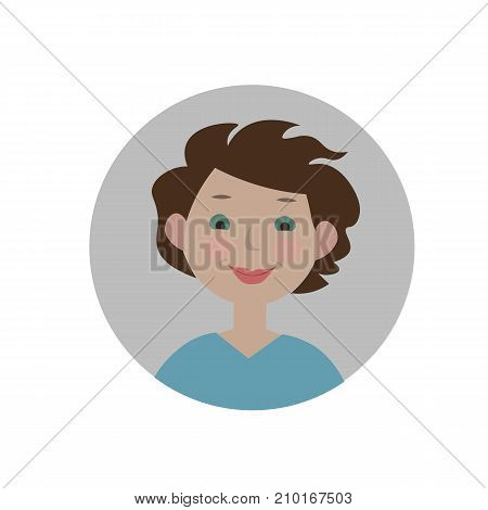Interested emoticon. Fascinated expression icon. Isolated vector illustration.
