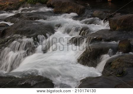 Beautiful Waterfall Stream , Malang City, East java, Indonesia