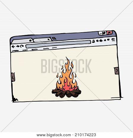 Browser Window Vector Stock Illustration.