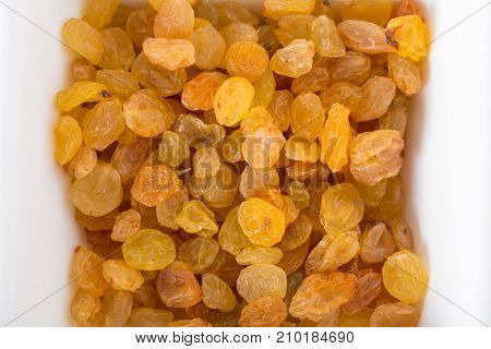 Yellow raisins. Photo can be used as a whole background.