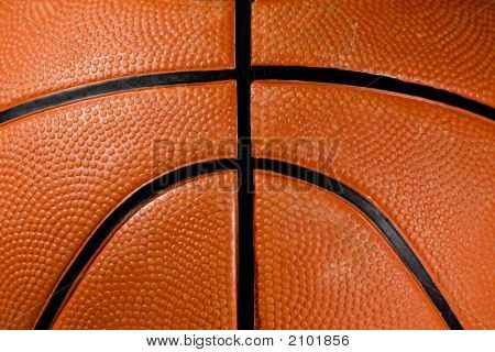 Closeup Of A Basketball