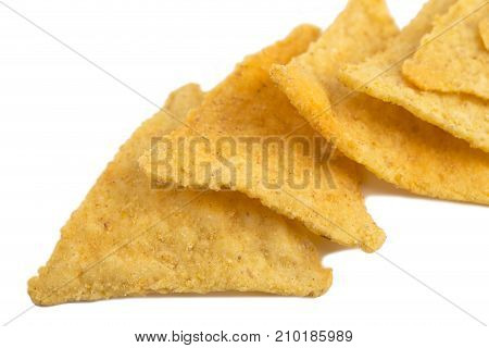 Crispy nachos.Photo can be used as a whole background.