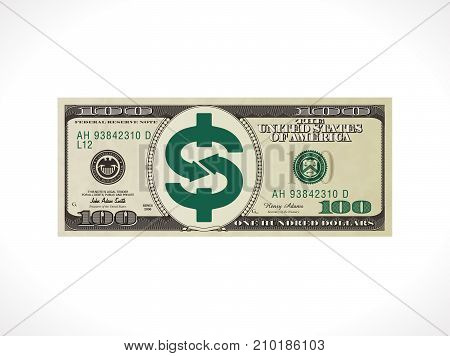 One hundred dollars - United States currency - money transfer concept