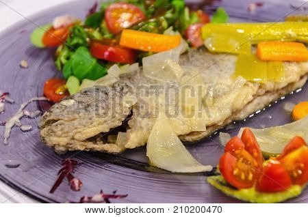 Pickled Trout With Vegetables And Salad