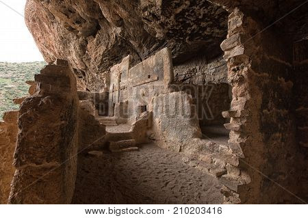 Tonto native american indian ruins cliff dwelling