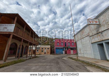 November 26 2015 Miami Arizona: victorian style neglected architecture in the former copper mining boomtown