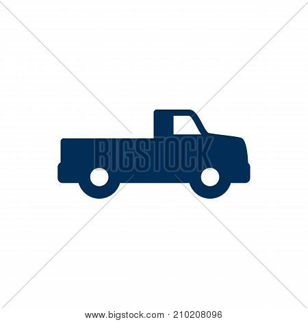 Isolated Dumper Truck Icon Symbol On Clean Background