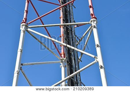 Part of the Microwave tower and mobile phone repeater station