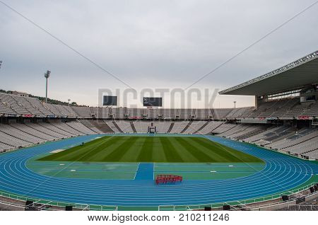The Olympic Stadium In Barcelona Spain
