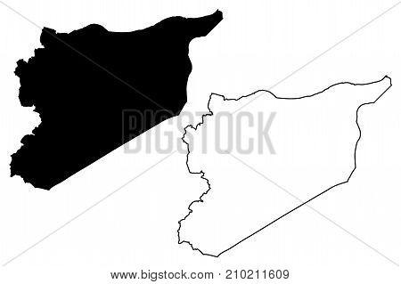 Syria map vector illustration , scribble sketch Syria