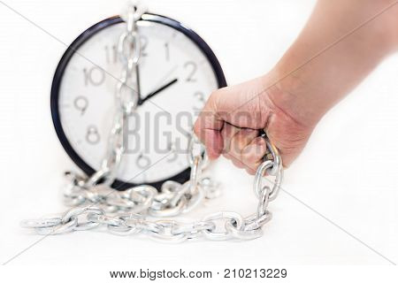 Abstract Composition Of Time Time Flow.