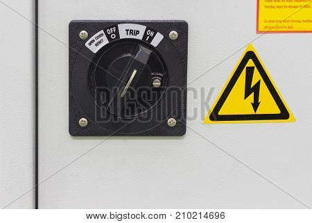 industrial on / off switch for electrical cabinet for machine ; factory equipment