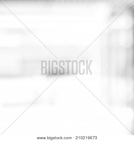Blur black and white abstract bokeh light background monochrome