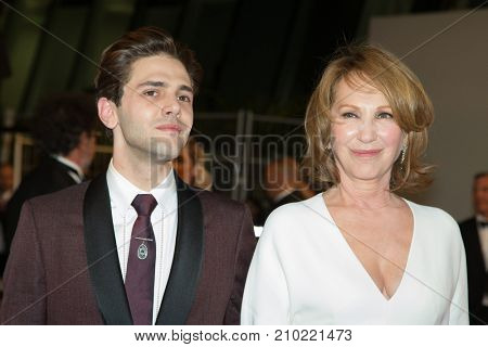 CANNES, FRANCE - MAY 19, 2016: N. Baye, Xavier Dolan attend the 'It's Only The End Of The World (Juste La Fin Du Monde)'  premiere during the 69th annual Cannes Film Festival