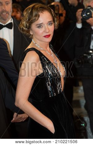 CANNES, FRANCE - MAY 19, 2016: Valeria Golino  attends the 'It's Only The End Of The World (Juste La Fin Du Monde)'  premiere during the 69th annual Cannes Film Festival at the Palais des Festivals