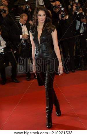 CANNES, FRANCE - MAY 19, 2016: Frederique Bel attends the 'It's Only The End Of The World (Juste La Fin Du Monde)'  premiere during the 69th annual Cannes Film Festival at the Palais des Festivals