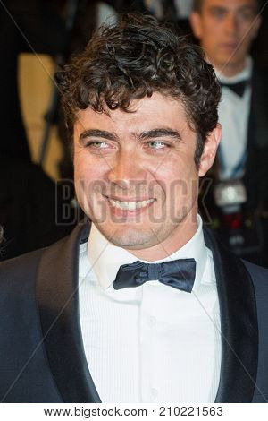 CANNES, FRANCE - MAY 19, 2016: Riccardo Scamarcio attends the 'It's Only The End Of The World (Juste La Fin Du Monde)'  premiere during the 69th annual Cannes Film Festival at the