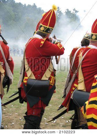 British Soldier Firing