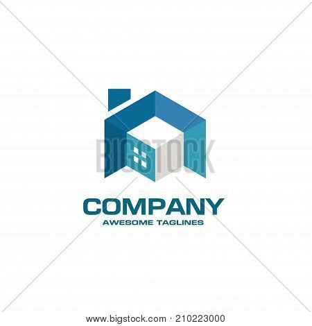 building house and interior 3d style logo vector, building, renovation house businesses logo, 3d real estate logo concept