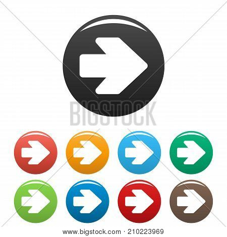 Arrow icons set. Simple illustration of arrow vector icons isolated on white background