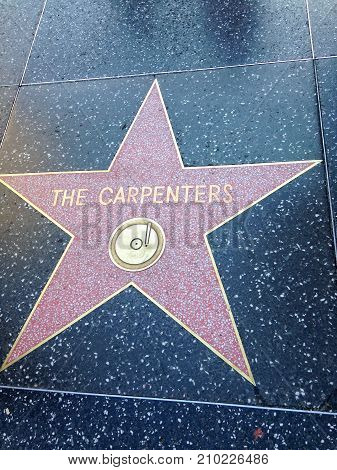The Carpenters Hollywood Walk Of Fame Star.