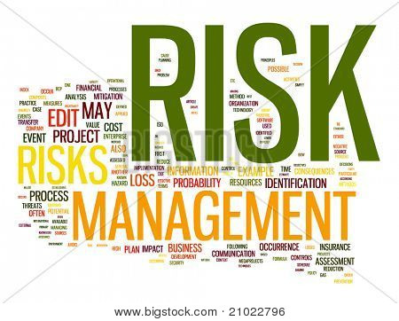 Risk management in word tag cloud