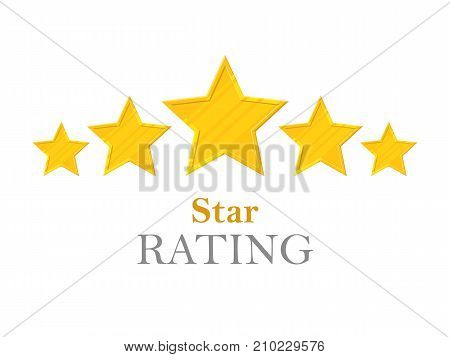 Gold Stars Rating Five Stars Vector Photo Bigstock