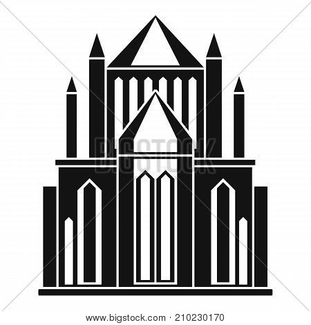Cathedral icon. Simple illustration of cathedral vector icon for web