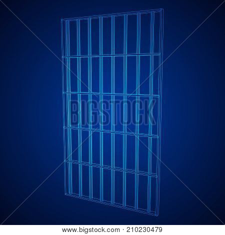 Wireframe prison bars . Cage connected concept Vector illustration.