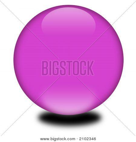 3D Purple Colored Sphere