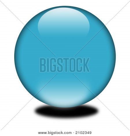 3D Blue Colored Sphere