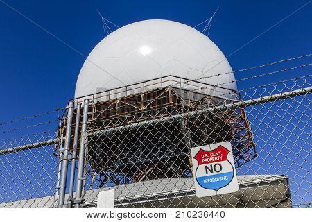 Indianapolis - Circa October 2017: FAA Air Traffic Control Doppler Radar Dome. ATC Radar tracks all airborne flights in the US II