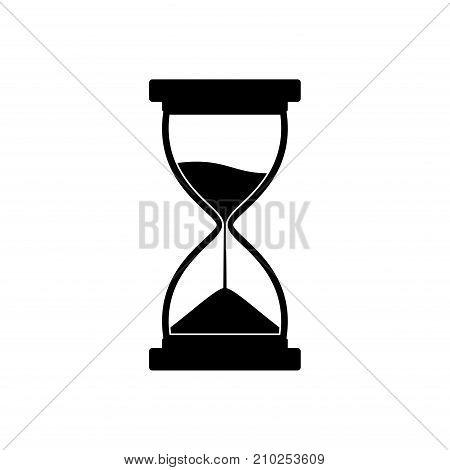 Sandglass icon isolated on white background. Time hourglass. Sandclock vector illustartion.