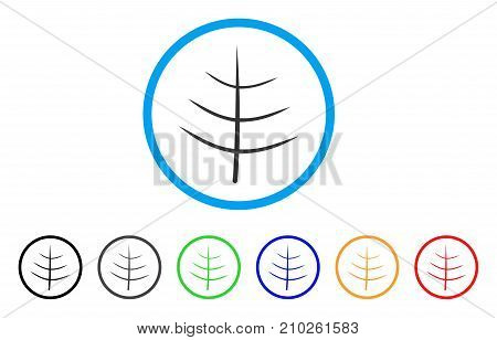 Bare Tree rounded icon. Style is a flat grey symbol inside light blue circle with bonus color variants. Bare Tree vector designed for web and software interfaces.