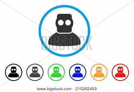 Diver Armor rounded icon. Style is a flat grey symbol inside light blue circle with bonus color variants. Diver Armor vector designed for web and software interfaces.