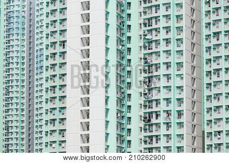 Skyscraper of Public housing building facade