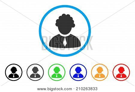 Judge Profession rounded icon. Style is a flat grey symbol inside light blue circle with bonus colored variants. Judge Profession vector designed for web and software interfaces.