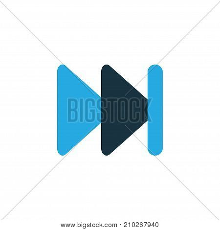 Premium Quality Isolated Forward Element In Trendy Style.  Next Colorful Icon Symbol.