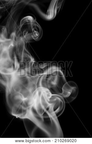 smoke on black background. macro . Photo of an abstract texture