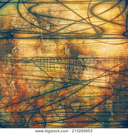 Colorful abstract retro background, aged vintage texture. With different color patterns
