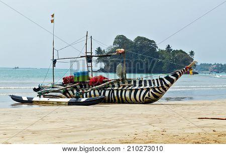 Sri Lanka Fishing Catamarans, Fish Boats