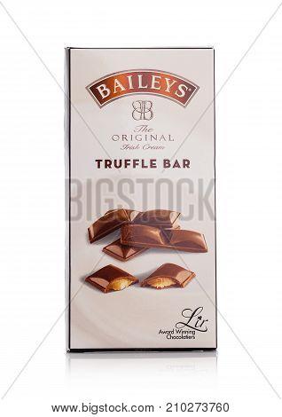 London, Uk - October 20, 2017: Truffel Barcandy Of Baileys Irish Cream.irish Whiskey- And Cream-base