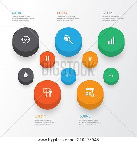 Authority Icons Set. Collection Of Solution Demonstration, Approved Target, Group Organization And Other Elements
